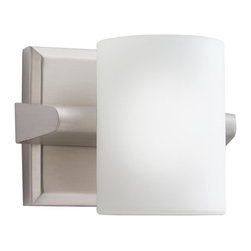 Kichler Lighting - Kichler Lighting 5965NI Tubes 1 Light Bathroom Vanity Lights in Brushed Nickel - Bath 1Lt Halogen