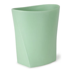 Umbra - Umbra Ava Waste Can, Mint Green - Our contemporary Ava collection of bathroom accessories in mint green by Umbra features a soft curves and rounded surfaces which allows the pieces to 'nest' up against each other that adds style to your bathroom. Designed by Dennis Cheng for Umbra - the worldwide leader in innovative, casual, contemporary and affordable design for the home.