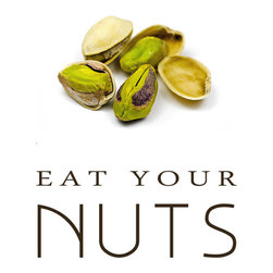 Groovy Gal Designs Online - Eat Your Nuts Giclee Print, 5 x 7 - Need inspiration to eat more nuts? This wonderful print will encourage you to eat your healthy nuts every day!