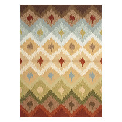 Jaipur Rugs - Abstract Pattern Beige /Brown Indoor/ Outdoor Rug - BA10, 5x7.6 - Not ready for that second home in Spain quite yet? Bring the warmth of Catalonia home right now with this Barcelona-inspired rug. The warm, dusty colors and festive pattern will transport you back to days spent strolling La Rambla. Bring the rug outside on hot nights for a fiesta of your very own.