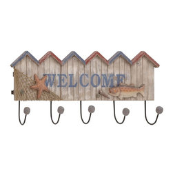 "Benzara - Striking Styled Wood Metal Welcome Hook - Check out this attractive Welcome hook that will add charm to your place. Made of quality materials this Welcome hook will last for years. This Welcome hook holds striking appeal and thus supports all kinds of interiors. You can add this Welcome hook to any place of your room space and experience the better difference. The Welcome hook will steal the spotlight and make you win appreciations from many. You can add this Welcome hook to hotels, lounges for that sassy touch.Guests paying a visit over your place will be surprised to check out this table lamp. They'll be enticed to add one to their interiors. Besides, this Welcome hook can also be gifted to your near and dear ones. Put an end to your thoughts and get this Welcome hook right away. Did you get one?. Welcome hook measures 27 inches (W) x 11 inches (H); Made of quality Polystone; Durable construction; Dimensions: 28""L x 5""W x 12""H"