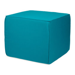 None - Brooklyn Sunbrella Indoor/ Outdoor 22-inch Square Ottoman-Bright Colors - Complement your outdoor living space with this colorful,square outdoor ottoman. It is made of sunbrella,a durable fabric that is water-repellant,mildew-resistant,and easy to clean. This ottoman can be used for seating or as a coffee table.