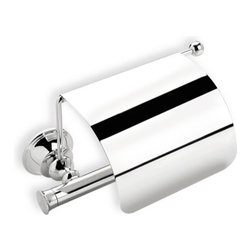 StilHaus - Brass Toilet Roll Holder with Cover, Chrome - Toilet roll holder with cover made of brass.