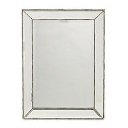 "Channing Mirror - Williams-Sonoma Home - Look closely: This mirror has all sorts of thoughtful details. From the beveled glass to the edges of thin beading, it's these subtle notes that set it apart.30"" x 40"". Hangs vertically or horizontally."