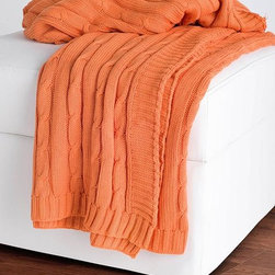 Home Decorators Collection - Cable Knit Decorative Throw - Our Cable Knit Decorative Throw is a stylish piece for your living room or bedroom. Use as a personal blanket or drape over your favorite sitting area for a warm inviting look. Crafted of 100% cable knit cotton. Machine washable. Available in a variety of colors.