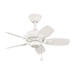 """Kichler - 30"""" Canfield 30"""" Ceiling Fan Satin Natural White - Kichler 30"""" Canfield Model 300103SNW in Satin Natural White with Satin Natural White finished blades."""