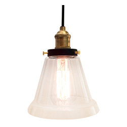 WestMenlights - Rustic Glass Shade Pendant Lamp - Materials: Vintage Iron, Aged Steel