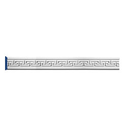 """Inviting Home - Havelock Greek-Key Molding - Havelock Greek-Key chair-rail molding 3-1/2""""H x 1""""P x 8'00""""L * can be used as chair-rail door & window trim 4 piece minimum order required chair-rail molding specifications: - outstanding quality chair-rail molding made from high density polyurethane: environmentally friendly material is hypoallergenic and fully recyclable no CFC no PVC no formaldehyde; - front surface of this molding has extra durable and smooth surface; - chair-rail molding is pre-primed with water-based white paint; - lightweight durable and easy to install using common woodworking tools; - metal dies were used for consistent quality and perfect part to part match for hassle free installation; - this chair-rail molding has sharp deep and highly defined design; - matching flexible molding available; - chair-rail molding can be finished with any quality paints; Polyurethane is a high density material--it's extremely lightweight and easy to install (and comes primed and ready to paint). It is a green material meaning its CFC and formaldehyde free. It is also moisture resistant--so it won't shrink flex or mold. What's also great about Polyurethane is that it's completely customizable and can be treated as wood (you can saw it nail it screw it and sand it). In addition our polyurethane material comes primed and ready to paint. There is a four piece minimum requirement for this molding purchase."""