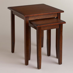 World Market - Chloe Nesting Tables, Set of 2 - Our handsome set of Chloe Nesting Tables offers two tables for the price of one. Boasting clean lines, this versatile set is a compact solution for adding extra surface space to any room.