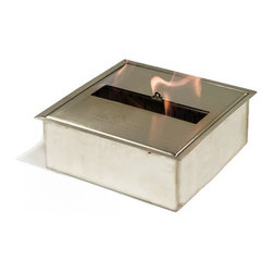"Bioflame 15500BTU 5L Fireplace Burner 304 Stainless Steel Construction - Features: 15,500BTU - 4.5Kw/h (heats on average 58m2 or 624ft2) 304 Stainless Steel Construction Insulated Bottom Tray 5.0L Fuel Capacity H 4.0"" (102mm) W 11.25"" (285mm) D 11.25"" (285mm)3298aFuelWant to know something sweet about the ethanol fuel used in Bio Flame fireplaces? It's all based on sugars!That's right, the Bio Flame ethanol fuel is so environmentally friendly that it is created through a fermentation process of sugars, including those from sugar cane, corn, beets, and potatoes. These natural, all-reable resources work together to create an ethanol fuel source that provides not only heat, but a beautiful, dancing flame, as well.Some of the additional benefits of using the Bio Flame ethanol fuel include:Environmentally friendly. Ethanol fuel is all-natural and made from reable resources. This means that you are not cutting down valuable trees that take much longer to regenerate.Better breathing. There is no air pollution with the Bio Flame ethanol fuel. This means that you, as well as everyone else, help to keep chemicals and toxins from being released into the air. You will breathe better in your home, and everyone else benefits from the reduction of pollutants, as well. There's no odor or smoke to worry about, either, providing you with a safe flame.Cleaner source. Ethanol fuel creates a clean heat source, eliminating the need to worry about cleaning soot or ash. Cleaning the Bio Flame fireplace is a breeze.Super simple. The ethanol fuel used in the Bio Flame fireplace is simple to use. Within seconds, you will have it refilled, never having to worry about spills or trekking out into the cold weather for another log.The Bio Flame environmentally friendly fireplaces use ethanol fuel, because it provides a better heat choice for you, and for everyone else. You never compromise on having a beautiful-looking fireplace, warmth, and a beautiful flame. Ethanol fuel provides all the things you want, and nothing you don't. When it comes to having a fireplace, it doesn't get much sweeter than that!Benefits of an Ethanol Fireplace When it comes to purchasing a fireplace, you have a lot of options  available to you. But that doesn't mean they are all going to give you  great benefits. Sure, they will all provide you with some heat (or at  least should) but, for some fireplaces, that is where the benefits both  begin and end. When you choose a Bio Flame environmentally friendly  fireplace, you get a list of benefits, some in areas you may not even  have thought about! Here are some of the benefits you will get by using a Bio Flame ethanol fuel fireplace:No heat loss. With a traditional fireplace that has  a chimney, you will lose 70 percent of the heat, and will only get to  warm your home with 30 percent. With a Bio Flame ethanol fuel fireplace,  however, your home will get 100 percent of the   heat. There is no  chimney, so all the heat stays in the home.Reable resources. Ethanol fuel that is used in  the Bio Flame fireplace is made from sustainable resources. The ethanol  fuel is made from fermenting sugars, including the use of cane sugar,  beets, potatoes, and corn. Our oxygen-producing trees never get cut  down, just to be burned up.No air pollution. Traditional fireplaces put a lot  of pollutants into the air, including chemicals, smoke, and toxins. The  Bio Flame ethanol fireplace burns clean, so you never have to worry  about any air pollution from it, nor about any ash, soot, or smoke.Beautiful appearance. Many people fall in love with  the beautiful, stylish designs in which the Bio Flame ethanol  fireplaces are available. They can make any home or office look  top-notch.All natural. The ethanol fuel that is used in the  Bio Flame environmentally friendly fireplace is all-natural. Made from  plant-based materials, it is harmless, and free of toxins.Super easy. Not only is the ethanol fireplace  simple to use, but the ethanol fuel takes only seconds to refill.  Setting up the ethanol fireplace for the first time is also a breeze,  with most people having it ready to use within 30 minutes. Obtaining  ethanol fuel is also a much easier process than trying to obtain wood to  burn.Custom design options. Bio Flame will consider  custom-design options, so if you have something in mind that you want,  let them know. Chances are, they can help meet your needs.From retaining more heat to being environmentally friendly and looking  great, the ethanol fuel fireplace comes with a host of benefits. These  are all things to consider and compare when deciding which fireplace is  the right one for you. We are confident that you won't find any other  fireplace that comes close to offering all these benefits! 4001b"