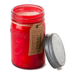 Pomegranate & Spruce Mason Jar Candle - Because we can't get enough of the charm of a vintage-inspired mason jar, you can see why we're be obsessed with this one. But it's really what's inside the jar that counts: A lovely hand-poured soy wax candle with sweet notes of pomegranate and spruce.