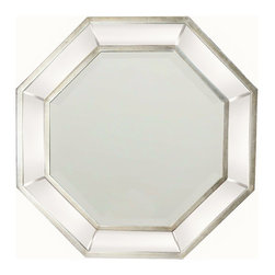 Garber corp - Octagon Mirror With Silver Liner Finish - This mirror is part of Garber collection. A transitional style octagonal mirror with a silver liner & beveled glass, it will look great as a focal point in your room. Garber is specializes in home decor items with an elegant look and high quality materials that will complete any project.