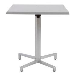 Eurostyle - Domino Dining Table Folding - Silver - Aluminum square column