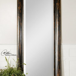 Wilton Antique - This stately mirror features a frame finished in hand