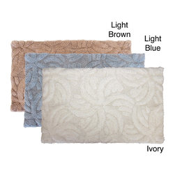 Austin Horn Classics - Austin Horn Classics Star 21 x 34 Bath Rug - Add to bathroom decor with this luxurious cotton bath rug. The 100-percent cotton rug has plush and comforting soft feel with a swirling star designs.