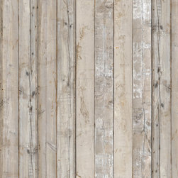 Piet Hein Eek Scrapwood Wallpaper - Piet Hein Eek first developed an interest in old materials after restoring a cupboard for his sister; he thought the old wood looked nicer than the new. He has built his business around old materials, saving these discarded pieces of wood and working outside of the circuit of mass production. Piet Hein Eek's work is sold in numerous galleries worldwide. He has exhibited at such venues as the Museum of Modern Art, New York; the Milan Furniture Fair, Italy; and Cibone, Tokyo. Now for the first time, his work is realized in wallpaper and available to a wider audience. There is no pattern in Scrapwood wallpaper, and it has over 10 square feet of unique planks. It is printed in super high resolution on heavy-duty wallpaper with paper top-layer and membrane backing, colorfast and washable with a soft cloth.