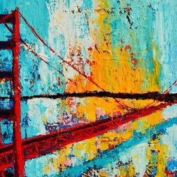 Golden Gate Bridge - Original acrylic painting on stretched canvas, 20 x 24 inches