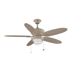 Fanimation - Fanimation Kaya Ceiling Fan in Washed Maple - Fanimation Kaya Model FA-FP7963WM in Washed Maple with Washed Maple Finished Blades.