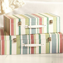 Striped Decorative Luggage