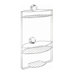 Croydex - Three Tier Shower Storage Caddy - QM374341YW - Manufacturer SKU: QM374341YW. Suction applied to flat, shiny tiles or glass. Chrome Plated mild Steel. Screw Apply to any surface incl painted walls and wood. Easy to install. Easy to remove and clean. Screws included. 11.81 in. W x 6.3 in. L x 17.72 in. HThis range is the ultimate quick-fix solution for bathroom accessories. With no need for drills, screws or glue, these products will provide you with additional storage that can be installed in minutes.