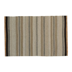 1800-Get-A-Rug - Striped Durie Kilim Hand Woven 100% Wool Flat Weave Oriental Rug Sh15683 - The Flat Weave hand woven rug is a type of area rug created by weaving wool onto a foundation of cotton warps on a loom. The Flat Weave rug offers the same beauty and durability as the classical thick-pile Oriental rugs, but without the telltale thick pile often spotted in other rugs. This gives the Flat weave a thin and flat appearance which resembles the Needlepoint, making them wonderfully ideal choices as accent rugs, wall hangings, or to drape over furniture and staircases.