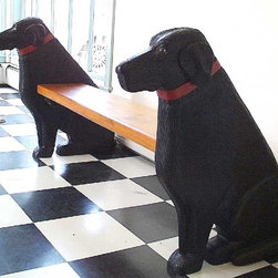 Z Gallerie Pug Bookends Black Labrador Bench - Created
