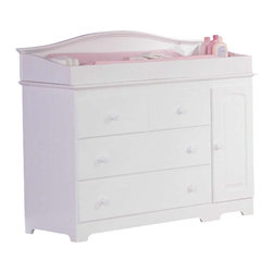 Atlantic Furniture - Atlantic Furniture Windsor 3 Drawer Changing Table in White-Changing Table Only - Atlantic Furniture - Baby Changing Tables - C69142 - The Windsor Changing Table is space saving innovation. Changing table features three drawers and two cabinets that are great for extra storage of blankets sheets or towels. It could also become a dresser for a smaller nursery saving you some space. A large changing area on the tabletop fits a standard changing pad. The Windsor Changing Table is made of Eco-friendly Hardwood and shipped fully assembled one less piece of furniture to try to figure out for your expected precious one's room. It is available in three of our durable high build finishes and is certified non-toxic.