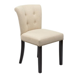 Ave Six - Inner Spring Chair in Linen - Traditional Style