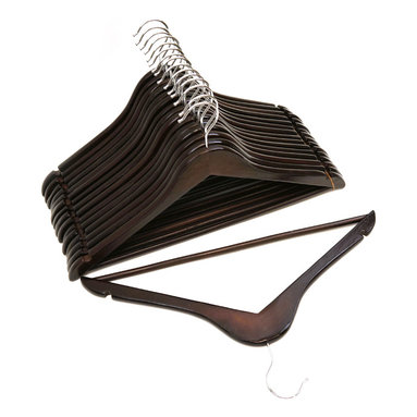 Florida Brands - Mahogany Wood Suit Hangers - Pack of 96 - Suit Hangers: