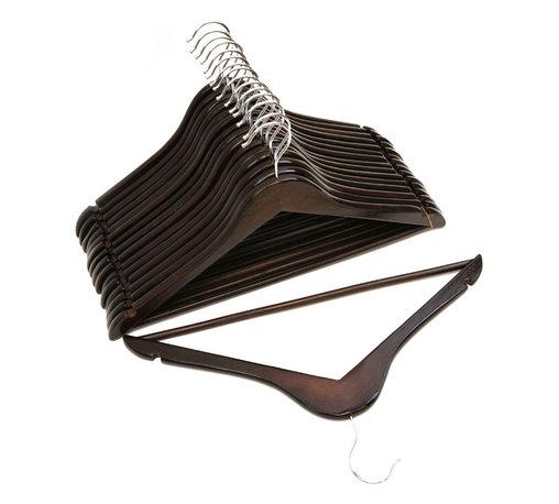 Florida Brands - Mahogany Wood Suit Hangers - Pack of 96 - Suit Hangers:
