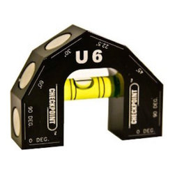 Checkpoint - Checkpoint U6 - Patented 6-Degree Vial Level, Black - There is NO level like the U6! Its patented design incorporates more degree readings than any level in its class to meet any contractor's needs with readings at 0°, 22.5°, 30°, 45°, 60° and 90°. And with our 45 min./arc reading bubble vial, you get precise and accurate readings every time.