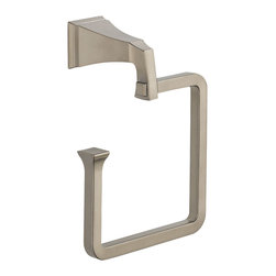 Delta Towel Ring - 75146-SS - The clean lines and dramatic geometric forms of the Dryden Bath Collection are based on style cues from the Art Deco period.