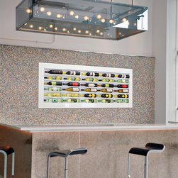 Vertical Picture Frame Wine Racks and WIne Wall - Wine Displayed as Art