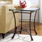 """Hammary - Sutton Rectangular End Table in Dark Burnished Steel Finish - """"Seldom does furniture come along that stops you in your tracks and stuns you with its vibrancy and verve. That's known as the """"""""wow"""""""" factor. But it has also has another name -""""""""Sutton"""""""" from Hammary."""