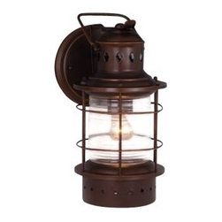 Vaxcel - Hyannis Outdoor Wall Sconce - Vaxcel OW37051BBZ Hyannis Burnished Bronze Outdoor Wall Sconce