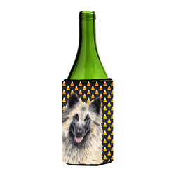 Caroline's Treasures - Belgian Tervuren Candy Corn Halloween Portrait Wine Bottle Koozie Hugger - Belgian Tervuren Candy Corn Halloween Portrait Wine Bottle Koozie Hugger Fits 750 ml. wine or other beverage bottles. Fits 24 oz. cans or pint bottles. Great collapsible koozie for large cans of beer, Energy Drinks or large Iced Tea beverages. Great to keep track of your beverage and add a bit of flair to a gathering. Wash the hugger in your washing machine. Design will not come off.