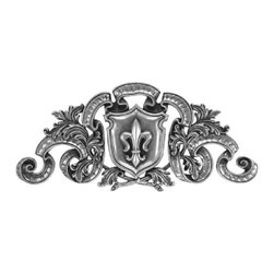 Landmark Metalcoat - Landmark Metalcoat Plaque Regal Fleur Onlay, Bronze High Polish - All Landmark Metalcoat products are made to order. lead time 3 -5 weeks. Proudly made in the USA.