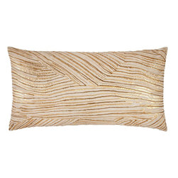 Linseed Bolster - I've been really drawn to metallics lately, and this pillow is one of my favorites. I love its organic pattern!