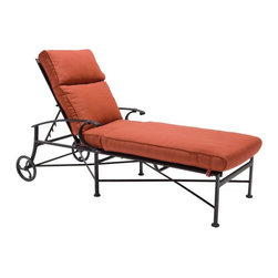 Winston - Winston Manor Collection Cast Aluminum Chaise Lounge - M42009-SBL-495 - Shop for Chaise Lounges from Hayneedle.com! With its high back design and deep seating the Winston Manor Collection Cast Aluminum Chaise Lounge is crafted from cast aluminum and extruded aluminum so you can be assured that this lounge is not only strong and durable but also extremely comfortable. Available in your choice of finish as well as your choice of Sunbrella cushion you can easily match this chaise lounge to your outdoor furniture. This quality outdoor chaise lounge includes a 15 year warranty on the frame and is easy to maintain with soap and water. Our Winston product specialists are standing by to answer any questions you may have. No assembly required. About SunbrellaSunbrella has been the leader in performance fabrics for over 45 years. Impeccable quality sophisticated styling and best-in-class warranties prove the new generation of Sunbrella offers more possibilities than ever. Sunbrella fabrics are breathable and water-repellant. If kept dry they will not support the growth of mildew as natural fibers will. Beautiful and durable Sunbrella is a name you can trust in your outdoor furniture. About Winston Furniture CompanyStarted in 1975 Winston Furniture Company manufactured simple aluminum furniture with virgin vinyl straps. As the popularity of casual furniture increased and consumers craved comfort Winston answered the call by being the first company to introduce cushioned mildew-resistant fabrics for outdoor use. In 1982 Winston was once again at the forefront by adding stylish easy-to-maintain sling furniture to its product line. Today the Winston Furniture line is comprised of cushion and sling furniture with a host of styles. A variety of powder-coated paint finishes and sling colors along with over a hundred fabric selections allow you to make just the look you need. All Winston Furniture product materials are proudly sourced in the U.S.A. Welding is completed in a