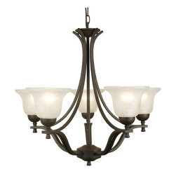 Design House - Design House 509182 Ironwood Traditional / Classic 5 Light Up Lighting Chandelie - Design House Ironwood 5 Light ChandelierThe Ironwood Indoor Lighting Collection's Warm Transitional Design With Bold, Flowing Lines Will Create A Beautiful Focal Point In Any Room.