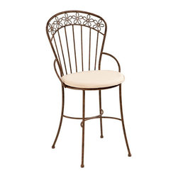 Deer Park Ironworks - Deer Park Ironworks Daisy Ribbon Chair Multicolor - CH107 - Shop for Chairs and Sofas from Hayneedle.com! Beautiful elegant and with a touch of whimsy the Deer Park Ironworks Daisy Ribbon Chair is a gorgeous addition to any outdoor area. You'll fall in love with its soft curves and winsome daisy ribbon design along the back which create a soft and serene atmosphere in your backyard. Made from durable heavy gauge metal with a baked-on powder-coated finish which helps to protect it from the elements. A gorgeous addition to any deck or patio this beautiful chair is perfect for relaxing outdoors and enjoying the warm weather.About Deer Park Ironworks LLCYou'll immediately recognize a yard that's been appointed with pieces from Deer Park thanks to the classic wrought iron designs and traditional finish that has made them an power player in the outdoor furniture industry. Dedicated to creating value for their customers with durable quality pieces of functional and ornamental wrought iron Deer Park continues to provide timeless designs while never sacrificing customer service and satisfaction as their pursue their corporate goals.