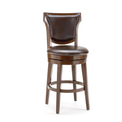 """Hillsdale - Hillsdale Country Heights 26"""" Swivel Counter Stool in Rustic Cherry - Hillsdale - Bar Stools - 4627826"""