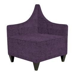 Howard Elliott - Howard Elliott Rhythm Eggplant Manhattan Corner Chair - Manhattan corner chair rhythm eggplant