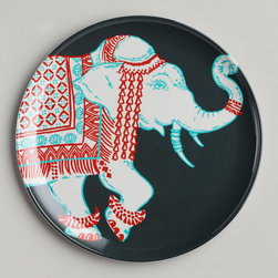 Gray Elephant Plates - Elephants are one of my favorite animals right now. I love the color combo on these plates.