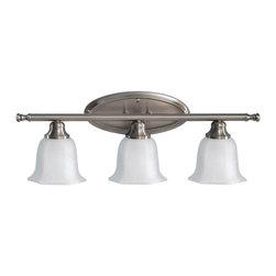 Feiss - Feiss Garrett 3 Light Vanity Strip in Brushed Steel VS11303-BS - Feiss Garrett 3 Light Vanity Strip in Brushed Steel VS11303-BS