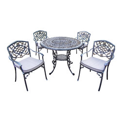 """Oakland Living - Oakland Living Mississippi 42"""" 5-Piece Dining Set with Cushions - Oakland Living - Patio Dining Sets - 201121209AP - About This Product:"""