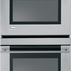 "GE Monogram 30"" built-In electric double oven - A Monogram® wall oven delivers exceptionally consistent cooking performance, every time. The reverse-air convection system uses a bidirectional fan to circulate heated air on all sides of food, producing the ideal blend of taste and texture."