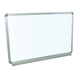Luxor Furniture - Wall Mounted Whiteboard - Painted steel magnetic whiteboard. Board Dimensions: 36 in. x 24 in. . Includes Mounting Brackets and Hardware (suitable for installation on Drywall). Aluminum frame around the board. Aluminum tray at 2 in. Deep to hold dry eraser and markers. 10 year warranty on the boardLuxor Wall-mounted Whiteboards are magnetic.