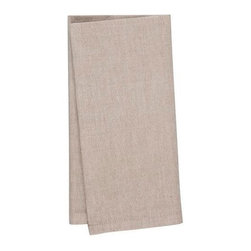 KAF Home - Chambrey Napkin - Flax, Set of 4 - The unique stitching on these chambray napkins brings a strong sense of formality to the kitchen table. Exquisitely soft to the touch and available in a range of striking colors.