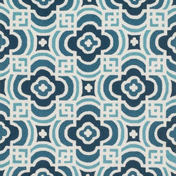 "Loloi Rugs - Loloi Rugs Francesca Collection - Blue / Turquoise, 3'-6"" x 5'-6"" - If your lifestyle is fresh, spirited and informal, the intricately hand-hooked Francesca Collection is for you. These richly textured designs range from boldly scaled florals and architectural gate patterns to geometric chevron stripes and pretty paisleys. Crafted to reflect your personal style, each Francesca rug is made in China of 100-percent polyester with fibers that are stain- and moisture-resistant. That means colors will remain vibrant today and tomorrow, whether you place your rug in asunroom, kitchen, family room or foyer."